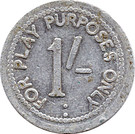 1 Shilling (Play purposes only) – reverse
