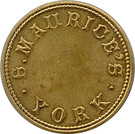 1 Shilling - S. Maurice's (York) – obverse