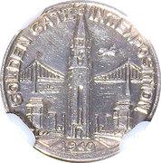 So-called-dollar - Golden Gate Exposition (Charbneau - Pacifica) – reverse