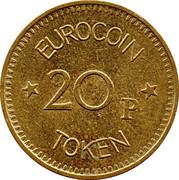 20 Pence - Eurocoin Token (Top Twenty) – reverse