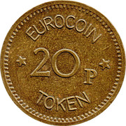 20 Pence - Eurocoin Token (Direct Machine Distributors) – reverse
