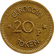 20 Pence - Eurocoin Token (Amusement Emporium) – reverse