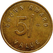 5 Shillings - Crown Award – obverse