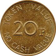 20 Pence - The Noble Orgatisation Ltd. – reverse