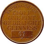 Token - Draught Guinness – reverse