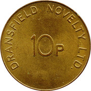 10 Pence - Dransfield Novelty Ltd. – reverse