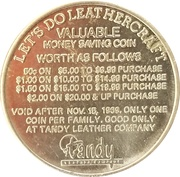 Token - Tandy Leather Company – reverse