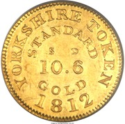 Token - George III (Yorkshire; ½ Guinea) – obverse