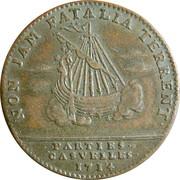Louis XIV - Parties Casuelles with ship – reverse