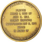 Token - Forrest City Centennial – reverse