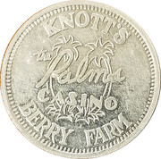 Token - Palms Casino (Knott's Berry Farm) – obverse