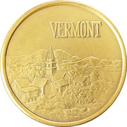 Token - Vermont Bicentennial – reverse