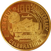 50 Cents - Oregon Centennial – obverse