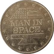 Shell Oil Token - Man In Space (Mercury IX) – reverse