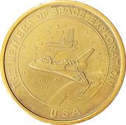 Token - The New Era of Space Exploration (Lousma Fullerton Columbia) – reverse