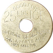 25 Lbs Ice - Riverside Ice Delivery Co. – obverse