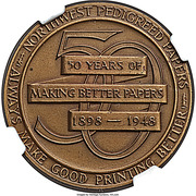So-called-dollar - Northwest Paper Co. 50th Anniversary – reverse