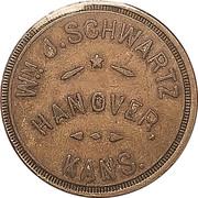 50 Cents - Wm. J. Schwartz – obverse