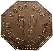 50 Cents - Burton's Cash Store – reverse