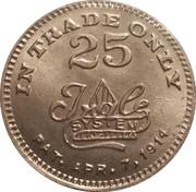 25 Cents - F. E. Felker – reverse