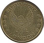 Token - Eurocoin London (Eagle) – reverse