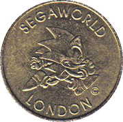 1 Ride Token - Segaworld (London) – obverse
