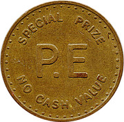 Token - P.E. (Phonographic Equipment - Special Prize) – obverse