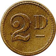 2 Pence - Allwin Token – reverse