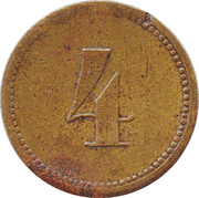 4 Pence - Monarch Automatic Co. – reverse
