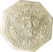 5 Cents - S. H. Jackson (Unionville, Missouri) – reverse