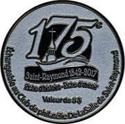 5 Dollars (175th anniversary of Saint-Raymond) – reverse