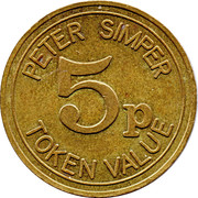 5 Pence - Peter Simper – obverse