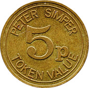 5 Pence - Peter Simper – reverse