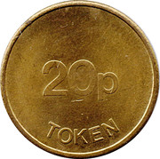 20 Pence Token - Ace – reverse