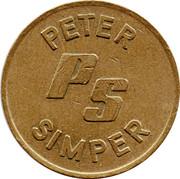 20 Pence Token - Peter Simper – obverse