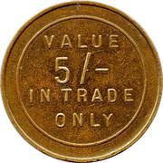 5 Shilling Trade Token – reverse