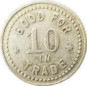 10 Cents - F.M. King – reverse