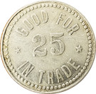 25 Cents - F.M. King – reverse