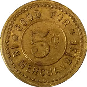 5 Cents - The Mercantile Co. – reverse