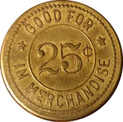 25 Cents - The Mercantile Co. – reverse