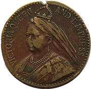 Token - Queen Victoria – obverse