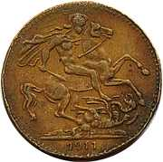 Token - Edward VII – reverse
