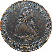 ½ Penny (Mathews on the game of Whist) – obverse