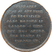 ½ Penny (Mathews on the game of Whist) – reverse