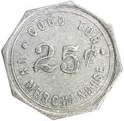 25 Cents - H.H. Schacht – reverse