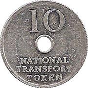 10 Pence - National Transport Token – obverse