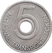 5 Pence - National Transport Token – obverse