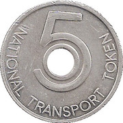 5 Pence - National Transport Token – reverse