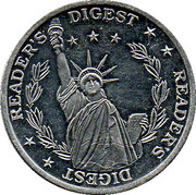 Token - Reader's Digest (Statue of Liberty) – obverse