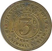 3 Pence - Whitehorse (Lansdown) – reverse
